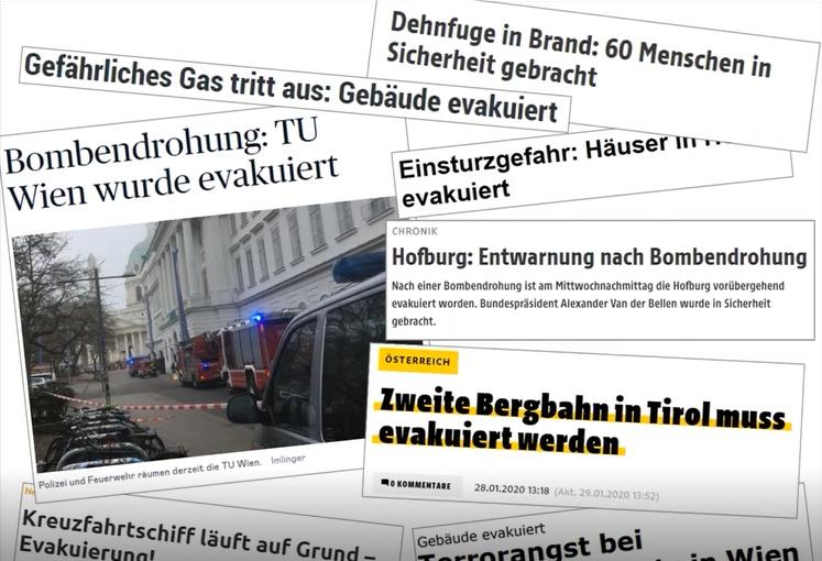 Nachrichten-Headlines zum Thema Evakuierung